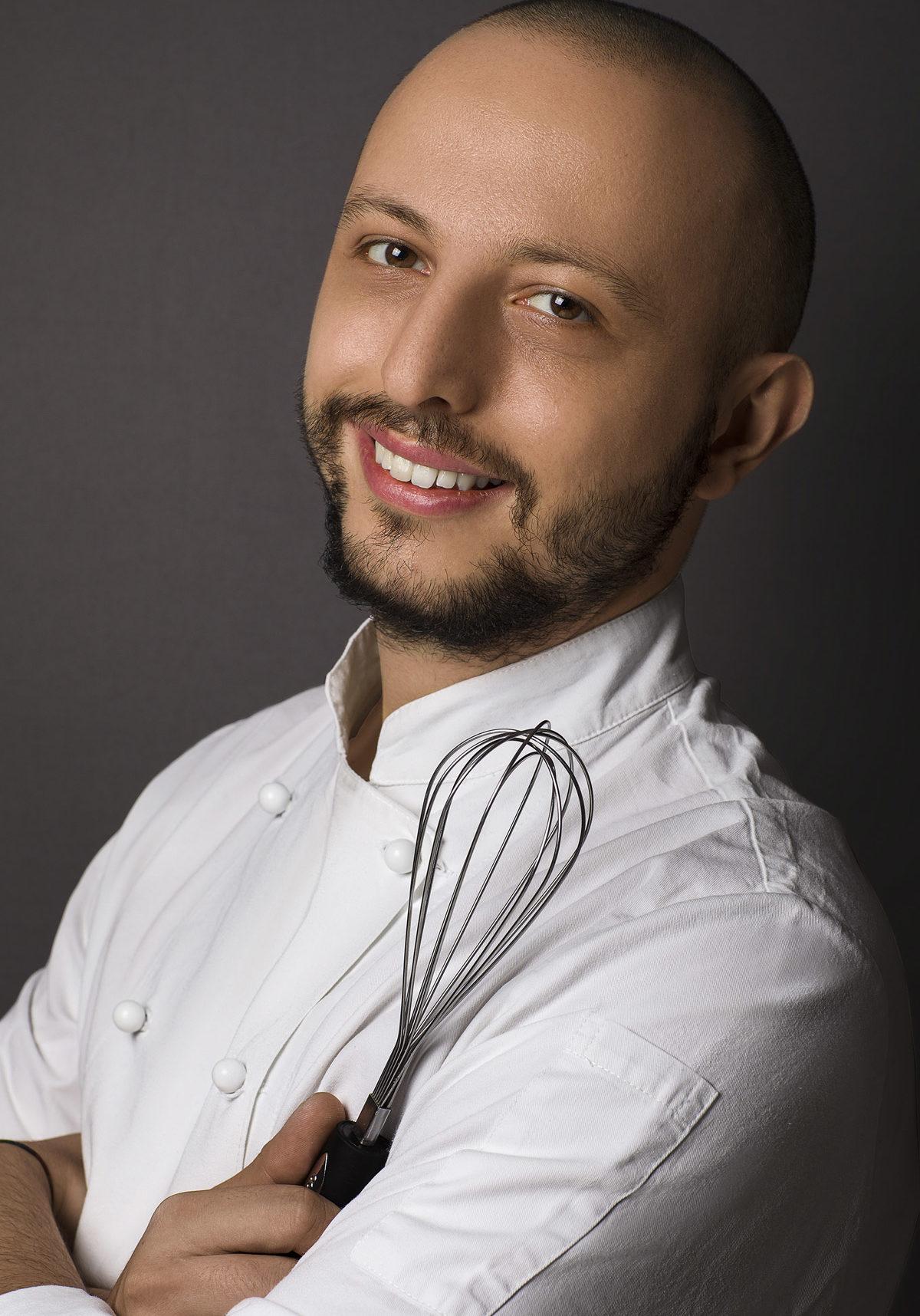 Ritratto Professionale di ucuoco chef - Fotografia - Foto Aziendale - Omar Viara Fotografo a Torino